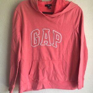 Gap neon orange/coral logo hoodie XL